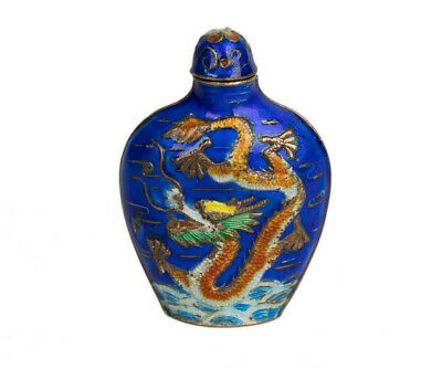 China 20. Jh. Silber & Emaille -A Chinese Silver & Enamel Snuff Bottle - Chinois