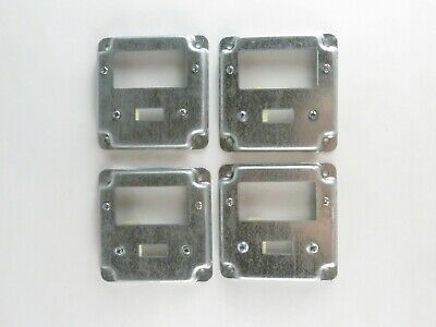 """New Lot of 4 Thomas & Betts Steel City RS 18 CC 4"""" Square Exposed Work Cover"""