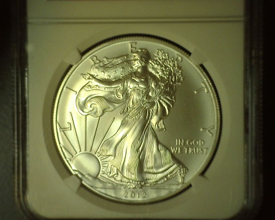 United States 2012 American Silver Eagle Silver $1 Ngc Ms69 - Snowman Label