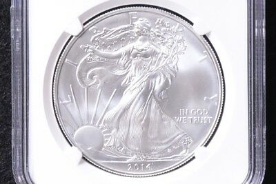2014 S Silver Eagle NGC MS69 Early Releases Struck at San Francisco Mint Label