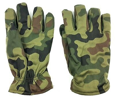 AUTHENTIC MILITARY WINTER GLOVES XL POLISH ARMY WOODLAND CAMOUFLAGE PANTERA wz93