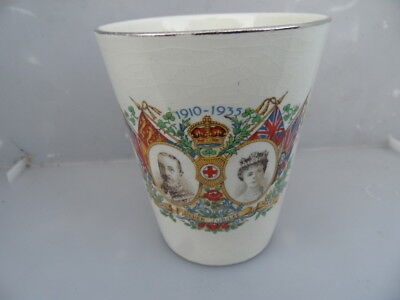 Bone China Tumbler to Commemorate Silver Jubilee King George V & Queen Mary 1935