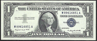 1957A $1 BLUE Seal SILVER Certificate! CHOICE AU! Old US Paper Money!