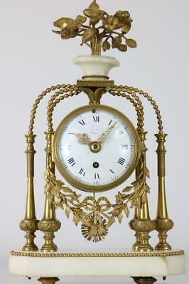 RARE, FINE & EARLY FRENCH MANTEL CLOCK c1775 by POCHON Louis XVI STUNNING FIND