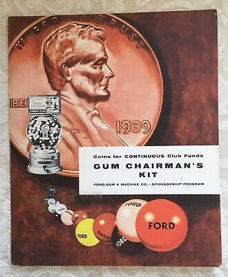 Gum Chairman's Kit Ford Vending Machine Co. Akron New York Fordway Plan Gumball