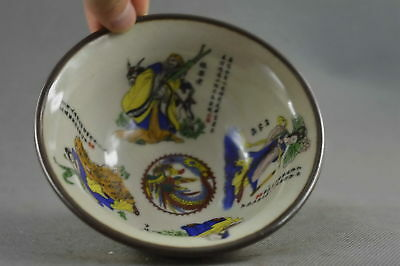 Collectable Ancient Chinese Porcelain Paint 8 Immortals Special Tibet Old Bowl