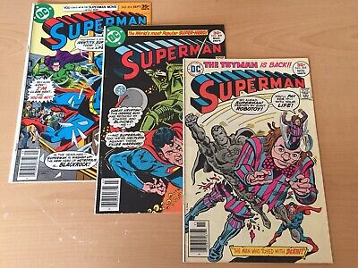 Superman Comics 1939 Series 305,309,315 *3 Book Lot* Toyman Clark Kent VG/FN DC