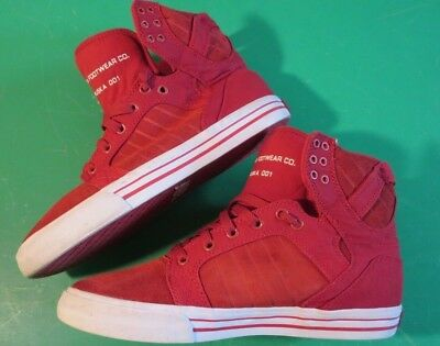 1104acbad59f3 Men's Supra Skytop Skateboard Pro Muska 001 Limited Edition Faded Red /  Size 9