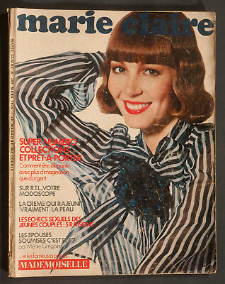 'marie-Claire' French Vintage Magazine Spring Collections Issue March 1974
