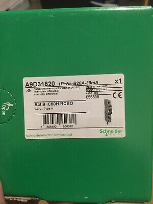 Schneider Acti 9 20A 30mA Type B RCBO