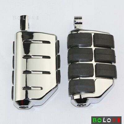 Motorcycle Chrome Wing Foot Pegs Foot Rest Dually For Male Mount Harley Softail