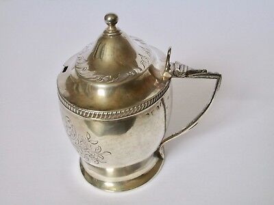 Antique George III English Sterling Silver Mustard Pot