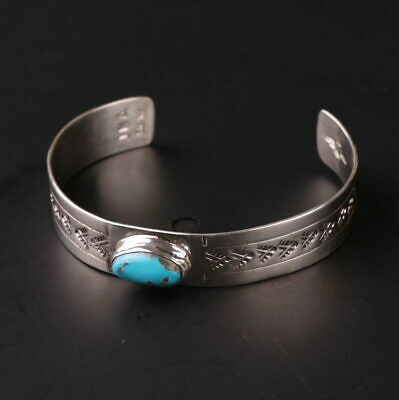 Native American cuff bracelet Sterling Silver .925 authentic Turquoise Navajo