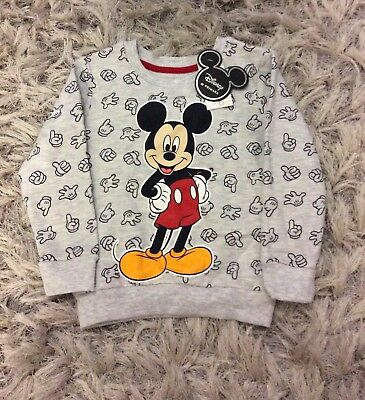 Brand New Boys Mickey Mouse Jumper Size 12-18 Months.
