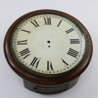 "ANTIQUE 16"" FUSEE DIAL CLOCK CASE made by CAMERER & CUSS gorgeous mahogany"