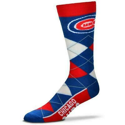 Chicago Cubs MLB Baseball Argyle Unisex Crew Cut Socks