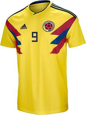 84987ccf3 Adidas Falcao  9 Colombia Official Home Men s Soccer Jersey World Cup 2018  Small
