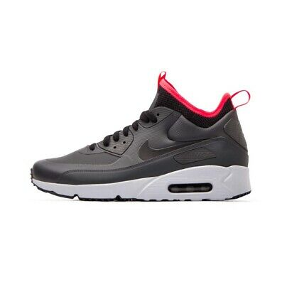 4333c256172ca0 NIKE AIR MAX 90 Ultra Mid Winter. Anthracite Black-Solar Red. 924458 ...