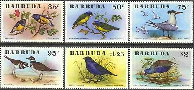 1976 Barbuda #238-243 Complete Mint Never Hinged Set of 6 Birds