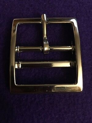Z Square Double Bar Belt Buckle Nickel Plated 1-1/2""