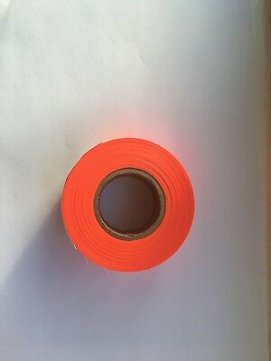 Flagging Tape . Orange.  5 X Reels For £2.00