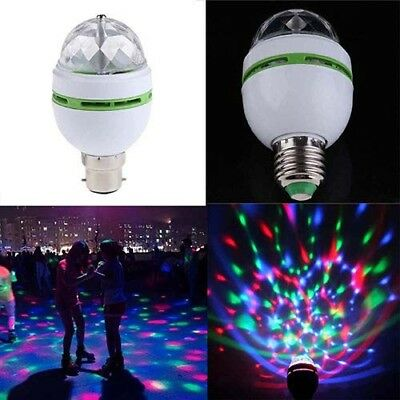 AC85-260 RGB LED Colorful Ball Rotating Stage Light Bulbs Magic Party Disco Lamp
