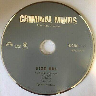 Criminal Minds Fifth Season 5 Five -  Disc 1 DVD Only - Free Shipping