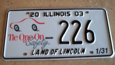 """2003 Illinois special event, """"Mothers against Drunk Drivers"""" license plate-""""226"""""""