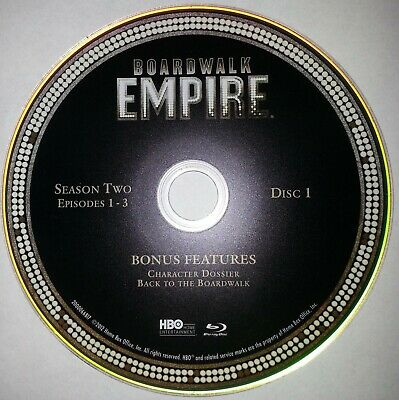 Boardwalk Empire HBO Second Season 2 Two Blu-ray Disc 1 Only- Free Shipping