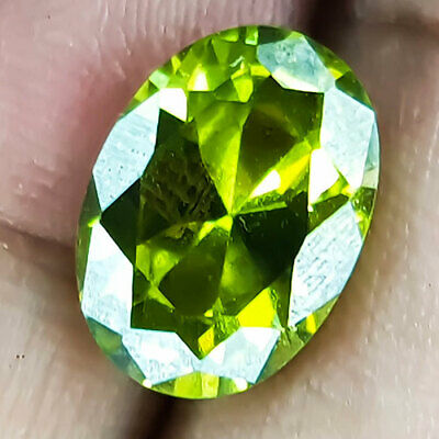 10.66 Cts 13Mm Vs+ Oval Fancy Parrot Green Natural Peridot Loose Gemstone