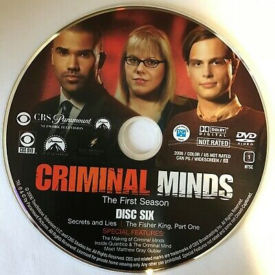 Criminal Minds First Season 1 One -  Disc 6 DVD Only - Free Shipping