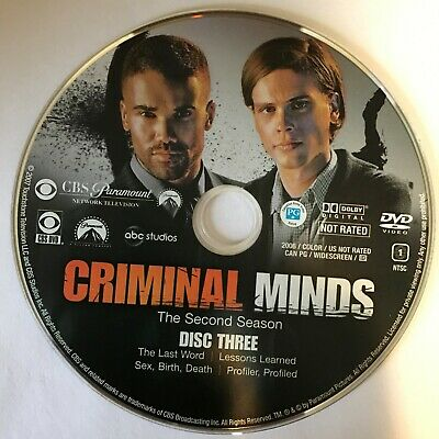 Criminal Minds Second Season 2 Two -  Disc 3 DVD Only - Free Shipping