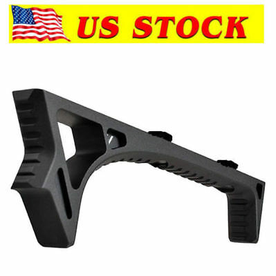 USA  LINK Curved Angled Foregrip Front Grip Fits M-LOK Handguard Rails Metal