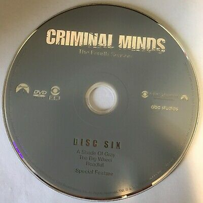 Criminal Minds Fourth Season 4 Four -  Disc 6 DVD Only - Free Shipping