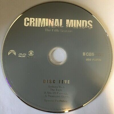 Criminal Minds Fifth Season 5 Five -  Disc 5 DVD Only - Free Shipping