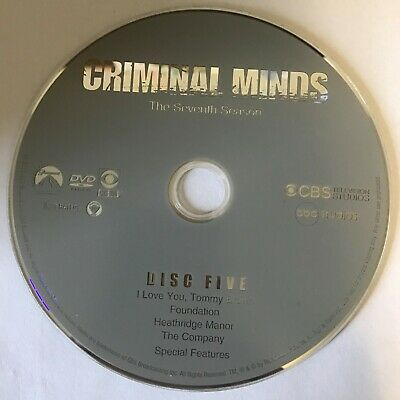 Criminal Minds Seventh Season 7 Seven -  Disc 5 DVD Only - Free Shipping
