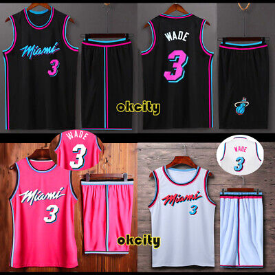 timeless design fd43a 4b84d MIAMI HEAT 3 Dwyane Wade 6 LeBron James USA NBA Jersey Men ...