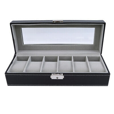 6 Slots For Men Valentine Gift Watch Box Leather Practical Watch Display Case NB