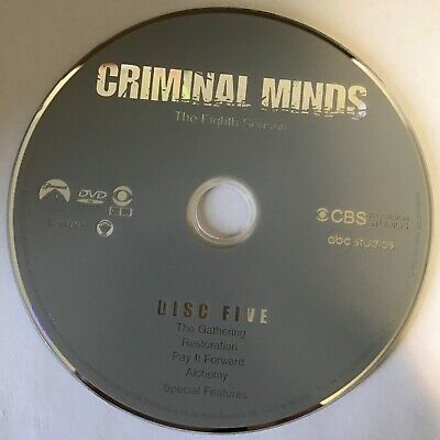 Criminal Minds Eighth Season 8 Eight -  Disc 5 DVD Only - Free Shipping