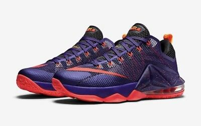 cheap for discount 89615 294e2 NIKE LEBRON XII LOW 724557-565 court purple red raptors Toronto James 23 12
