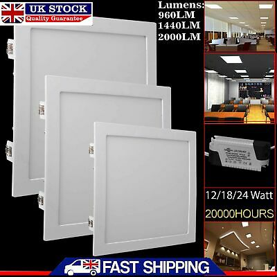 Led Recessed Lighting Panel Ceiling Down Light Ultraslim Thin Square Downlights