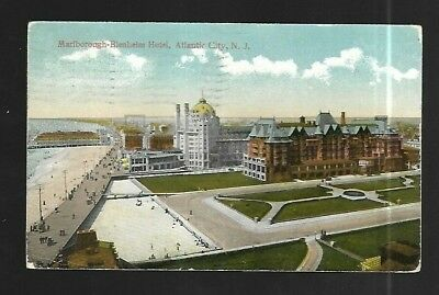 Vintage Postcard Marlborough Blenheim Hotel Atlantic City New Jersey Boardwalk