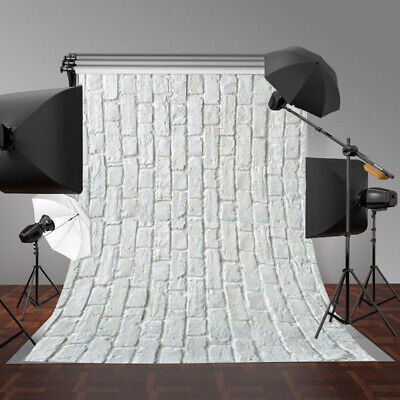 White Brick Photography Background Vinyl Wall Floor Photo Backdrop Studio 3x5ft