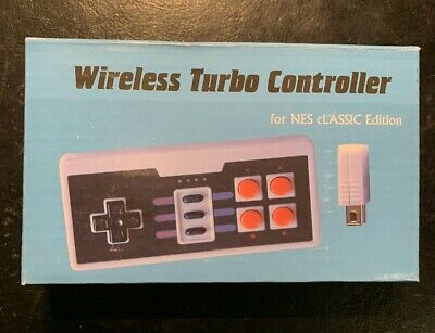 Brand New Wireless Turbo Controller for Nintendo Nes Classic Edition Cord Free