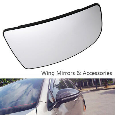 Fit Ford Transit Mk8 Door Wing Mirror Glass 2014 On Driver Right + Back Plate