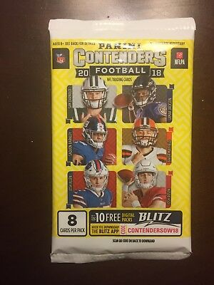 2018 Panini Contenders Football Autograph Auto Hot Pack - ?mayfield, Barkley