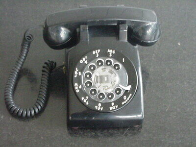 Vintage Western Electric Black Rotary Dial Desk Phone Bell System 500 WORKS