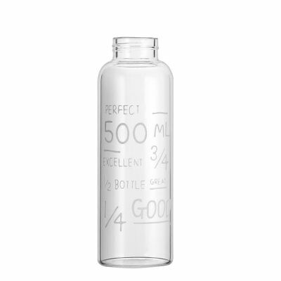 600ML Breakproof Glass Water Bottle Travel Drinking Water Bottle Drinkware XI QR
