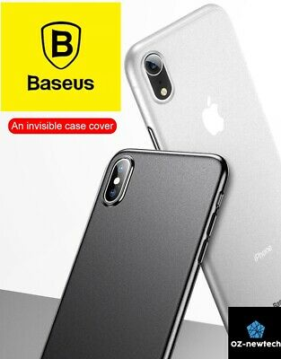iPhone XS Max XR XS X Case Translucent White/Black Clear Soft Thin Cover*Baseus*