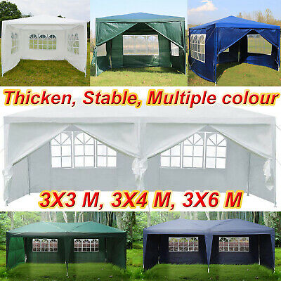 Gazebo Waterproof Garden Outdoor Marquee Wedding Party PE Tent 3x3/3x4/3x6m/3x2m